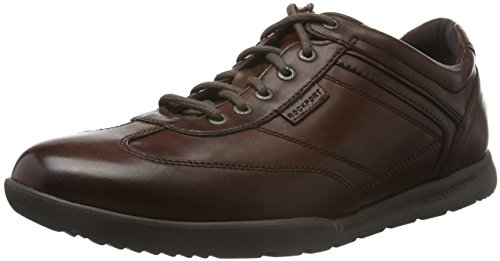 RockportINTERNATIONAL PATH T-TOE - Scarpe stringate Uomo , Marrone (Braun (Dk Brown)), 44 eu