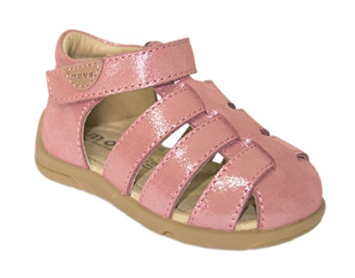 move  Mädchen Sandale, Sandales Bride cheville fille Rose - Pink (Rasberry metallic917)
