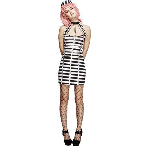 TYERY Rolle Der Frauen In Schwarz - Weiß Gestreiften Kleid Sexy Kostüm - Bühnen - Outfit,Mehrfarbig,S