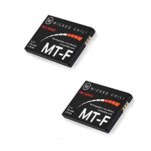 Wicked Chili Li-Ion 750 mAh Akku für AVM Fritz!Fon C5 / C4 / M2 / MT-F Telefone 2,78 Wh (2er Set), (FRTIZ_2)