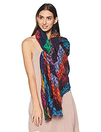 b5e9a1a997 Ahujasons Women's Shawl (IT30966-5_Multi_100 cm x 200 cm): Amazon.in ...