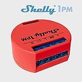 Shelly 1PM Interruttore Relè Wi-Fi con Wattometro per Controllo Circuito Elettrico con Potenza Massima di 3.5 kW, Compatibile con Amazon Echo e Google Home, Rosso