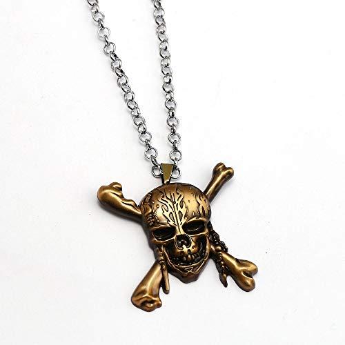 Halskette Schädel Jack Anhänger Mode Link Kette Halsketten & Anhänger Beste Freund Geschenk Frauen Männer Schmuck ()