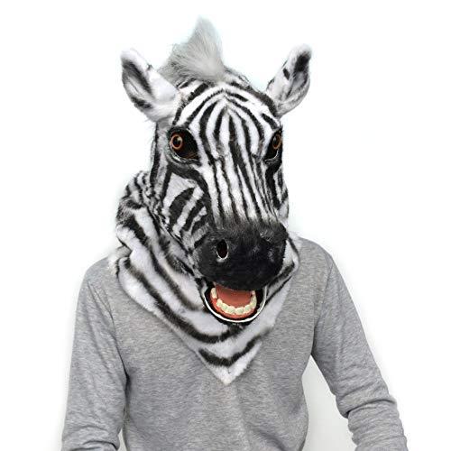 HHHUHHUA-LK Halloween handgemachte Zebra-Rolle, die Tiermaske spielt (Color : - Für Erwachsener Elefant Kostüm