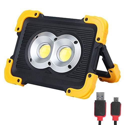 FISHNU Nylontasche Wiederaufladbare LED-Arbeitsscheinwerfer,1800Lm LED-Flutlicht,Eingebaute Lithiumbatterien Mit USB-Anschluss Zum Aufladen Mobiler Geräte -