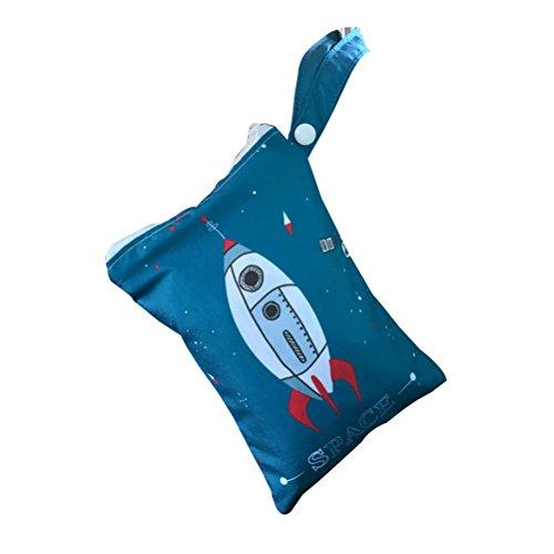 Vosarea 200g Natürliche Luftreinigung Bambuskohle Tasche Auto Lufterfrischer mit Hängeband (Rakete)
