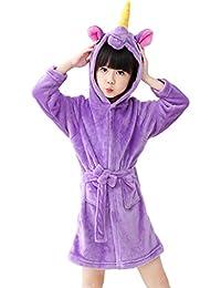 Niños Albornoz con capucha camisón, toalla de baño pijamas Baño robe Cómoda ropa ...
