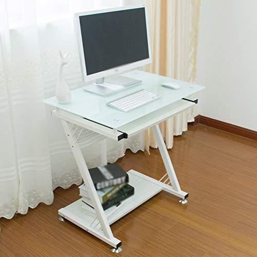 einstellbar Klappen Sie den Tisch Desktop-Heimcomputertisch Computer-Schreibtisch aus gehärtetem Glas 750 * 500 * 750mm kann gedreht Werden (Farbe: B) -