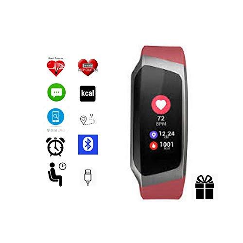 Fitness-Tracker von Torus Pro, Smartwatch, Fitness-Watch, Gewichtsverlust, Fitness, Bluetooth, Kalorienzähler, Anti-Verlust-Funktion, SMS, Facebook, Skype, Twitter, WhatsApp und Anruferinnerung, Schlaf-Überwachung, 30 Tage Analyse in Telefon-App, 12 Tage Akkulaufzeit abhängig von der Verwendung.
