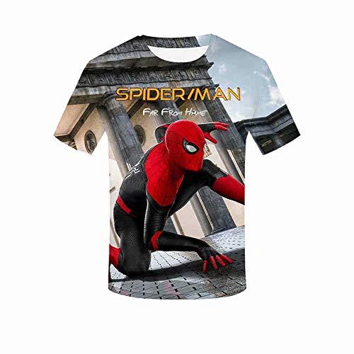 Unisex T Shirt Gedenken Superheld weit Weg von Zuhause Shirt 3D Print Superheld Cosplay weit Weg von Zuhause Fan T Kurzarm T-Shirt für Männer Frauen Stark Pride Rock Marvel Superheld Funny Sport T