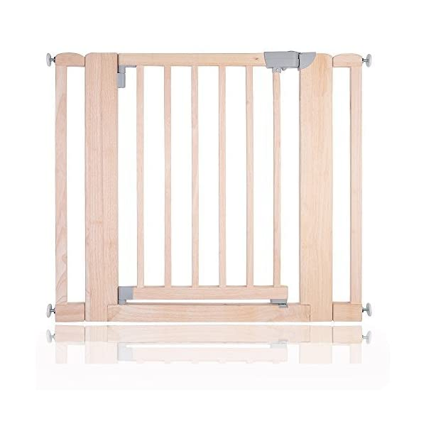 Safetots Chunky Wooden Pressure Fit Child and Pet Gate (Natural, 89-97cm) Safetots Fits openings from 74cm to 81cm (Gate only) Pressure fitted natural wooden gate One-handed operation 1