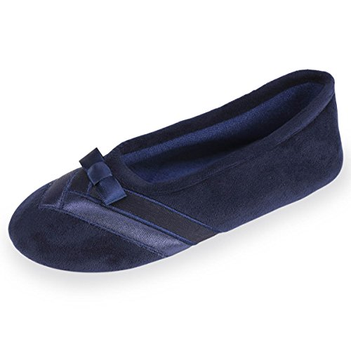 chaussons-well-ballerines-femme-dtail-satin-isotoner-37-38