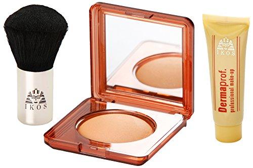 Ikos Dermaprof Complete Traveler Set, Egyptische Erde (7 g) + Dermaprof Foundation (10 ml) + Kosmetiktasche, 1er Pack (Set Ägyptische)