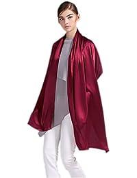 Prettystern - 200 x 70cm soie crêpe satin, soie lourde longue écharpe de soie en uniforme - sélection des couleurs