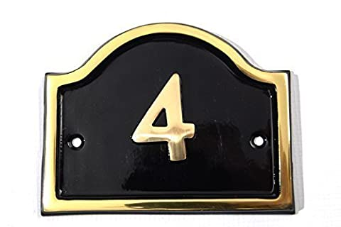 Brass Bridge House Number (Number 4)