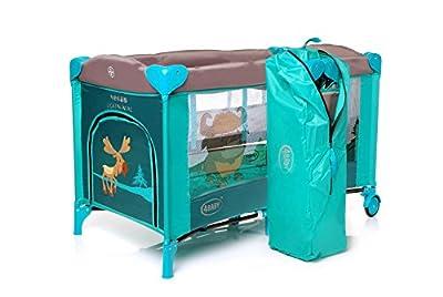 Parque cuna de viaje modelo Vega color verde