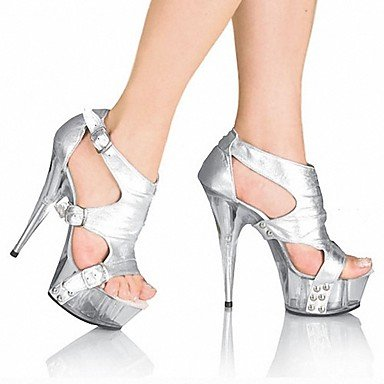 RTRY Donna Pantofole &Amp; Flip-Flops Ciabatte Pvc Summer Party &Amp; Sera Crystal Stiletto Heel Ruby Bianco Nero 5In &Amp; Oltre US9 / EU40 / UK7 / CN41