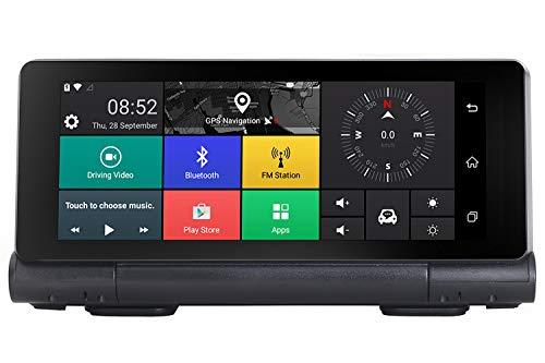 """GPS-Navigation, 1080P FHD DVR Autofahren Recorder, 2019 Weltkarten, der Beste Begleiter für Reisen, Camping, Abenteuer, 6.86"""" Park-Monitor, Loop Recording (A)"""