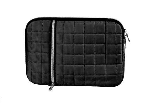 Gepolsterte Tablet Tasche schwarz mit Zusatzfach für Samsung Galaxy Tab 3 8.0 LTE (SM-T315) Tablet Tasche Etui Case Schutz Hülle mit Reissverschluss (65-sw)