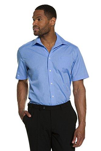 JP 1880 Herren große Größen bis 7 XL   Halbarm Hemd in blau   Shirt aus 100 % Baumwolle   Brusttasche, Knopfleiste & Kurzarm   Comfort Fit   705177 Hellblau