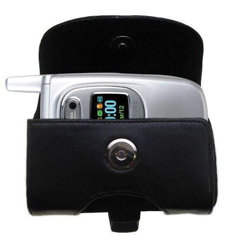 Custodia in pHorizontale schwarze Tragetasche für die Samsung SGH-P510 mit integrierter Gürtelschlaufe