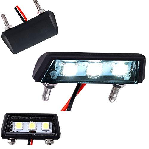 Mini LED Kennzeichenleuchte Kennzeichenbeleuchtung Motorrad Auto Kfz Quad ATV schwarz