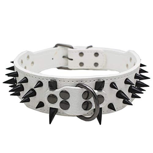 The World's First Sharp Spiked Studded Hundehalsband Rivet PU Leder Hundewelpe Bunte Umhängeband (Bh Umhängeband)