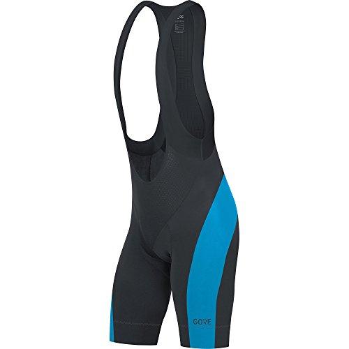 GORE Wear Atmungsaktive, kurze Herren Rennrad-Trägerhose, Mit Sitzpolster, GORE C5 Bib Shorts+, Größe: XL, Farbe: Schwarz/Blau, 100192 -