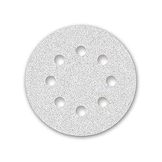 50 MENZER Klett-Schleifscheiben für Exzenterschleifer weiß - ø 125 mm - Korn 60-8-Loch