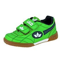 Lico Boys Bernie V Indoor Shoes, Green (Green/Marine/White) - 4 UK