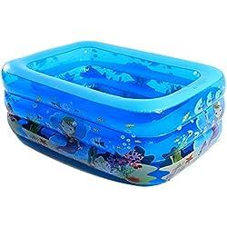 Einweichen Badewanne, Schwimmbäder Bäder aufblasbares Kinderbecken Erwachsene Whirlpool Family Pool Baby-Badewannen -blau, 150 * 105 * 55cm Tub