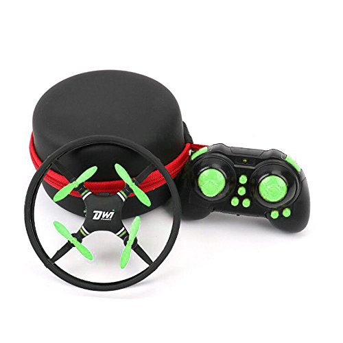 DW1 Mini Quadrocopter Drohne Kollisionsschutz-Rahme Align Trek UFO Entwurf Headless Modus Drone Spielzeug (Schwarz/Grün)