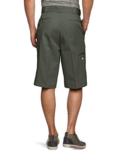 Dickies Herren Sport Shorts Streetwear Male Shorts 13 Zoll Multi-Pocket Work Grün (Olive Green)