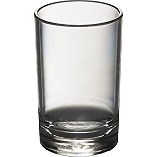 Set of 6 Roltex Unbreakable Reusable Polycarbonate Plastic Shot Glasses (55ml to rim, Height 6cm, Max Diameter 3.8cm)