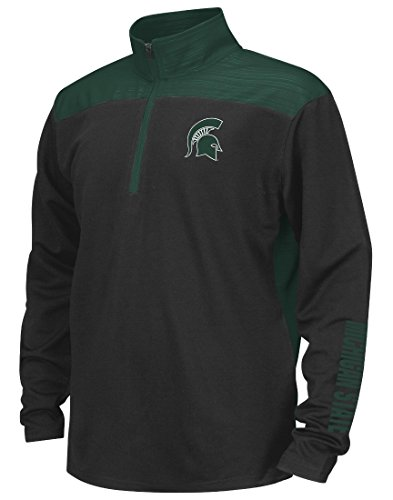 Michigan State Spartans Youth Kinder NCAA Vault 1/4 Zip Pullover Long Sleeve Wind Shirt (Kinder-jacken Ncaa)