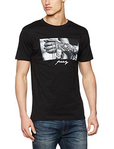 Mister Tee Herren Pray 2.0 T-Shirt, Black, S -