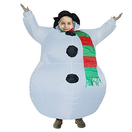 Kostüm Weihnachten Party Uniformen Karneval Lustige Kostüme Santa Claus Türkei Schneemann Weihnachten Cosplay Kinder und Erwachsene 130-160cm ()