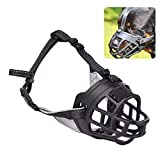TIMLand Silikon Masken Für Hunde Sicherheitsmaske Atmungsaktiv Bequem FüR Hunde Mund Anti Bark FüR Hunde