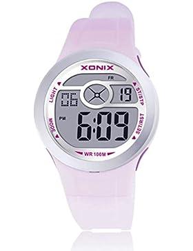 Stilvolle Mädchen eLEDWasserdichte Armbanduhr/Multifunktionale digitale elektronische Nachtwachen-G