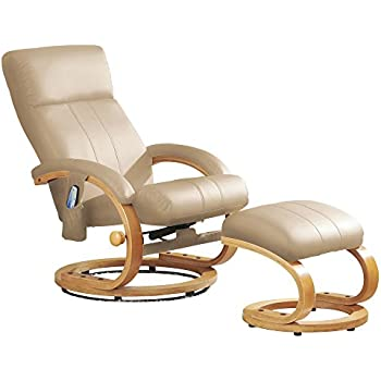 Luxury Leather Massage Chair and Foot Stool Swivel 360° Recliner. (Cream)  sc 1 st  Amazon UK & Leather electric massage recliner chair with footstool cream ... islam-shia.org