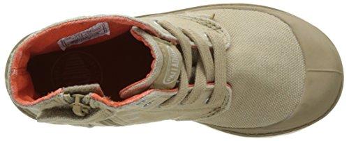 Palladium Pampa Hi Zipper, Hohe sneakers Mixte Enfant Beige (Sahara/marshmallow)
