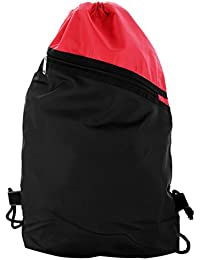 Roadeez Polyester 2.5L Red and Black Drawstring Bag