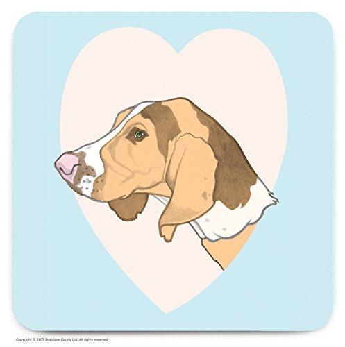 Le cadeau idéal pour les amateurs de 'Beagle' Chien. – mignon Cœur fantaisie Dessous-de-verre