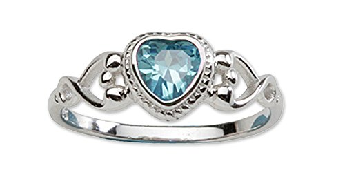 Precious Pieces  -  0,925  Sterling-Silber 925     Oxyde de Zirconium  (Sterling Silber Heart Shaped Ring)