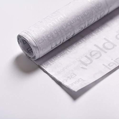 xinjiener Ca. 50 Teile/satz Block Englisch Blumenverpackung Papierrolle Bunte Geschenkpapier (Farbe : Grey)