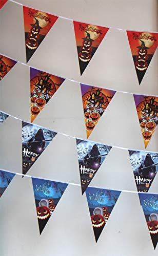 Standard-flag Banner (InSense Banner Halloween Ghost Bunting Triangle Flag Banner - Decoration Accessory Party Wedding Birthday Christening Christmas New Year (Style L))