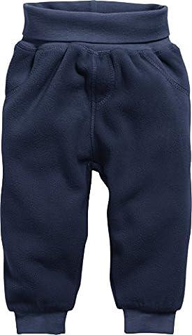 Schnizler Unisex Baby Jogginghose Pump-Hose, Fleecehose mit Strickbund Blau (Marine 11), 86