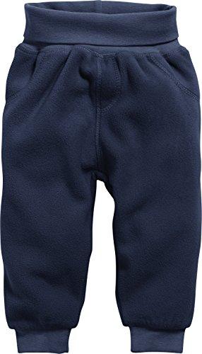 Schnizler Unisex Baby Jogginghose Pump-Hose, Fleecehose mit Strickbund, Blau (Marine 11), 56
