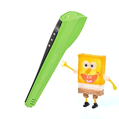 3D Stylo,YESTECH (2016 Nouvelle Version) 3D Pen 4ème GénérationImprimante à peindre Impression Stéréoscopic Printing et 3D Doodle avec Gratuit Mieux que Le Matériel PLA/ABS Filament (Vert)