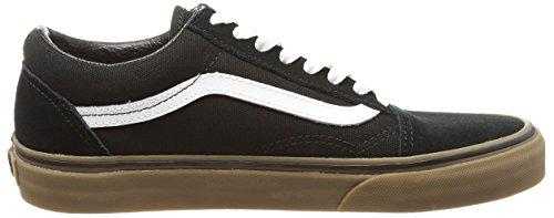Vans U Old Skool, Unisex-Erwachsene Sneakers Schwarz - Noir (Gumsole - Black/Medium Gum)